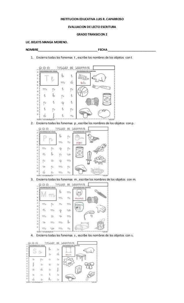 Evaluacion transicon 2
