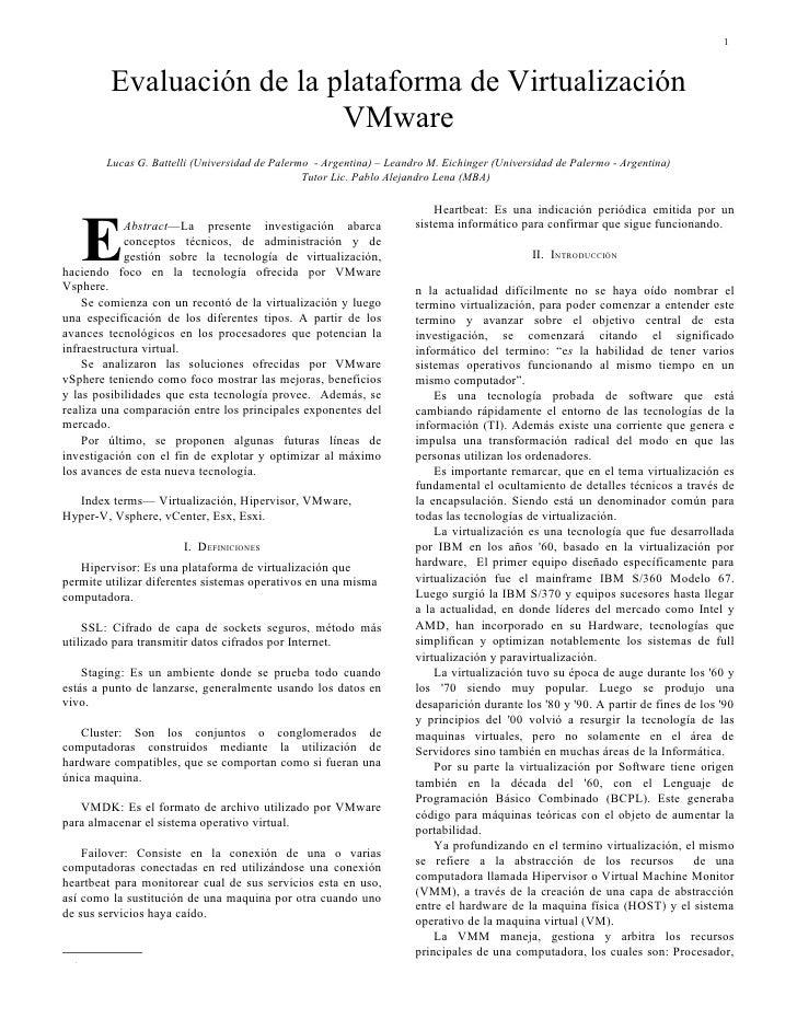 Evaluacion VMWare ESX