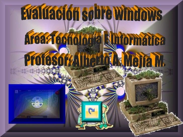 Un conjunto de programas que se encargan deejecutar las tareas básicas realizadas por la computadora A- EL WORD B- EL WIND...