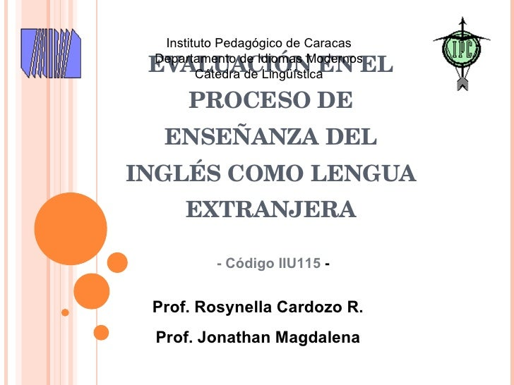 Evaluacón ILE Introduction to the Course