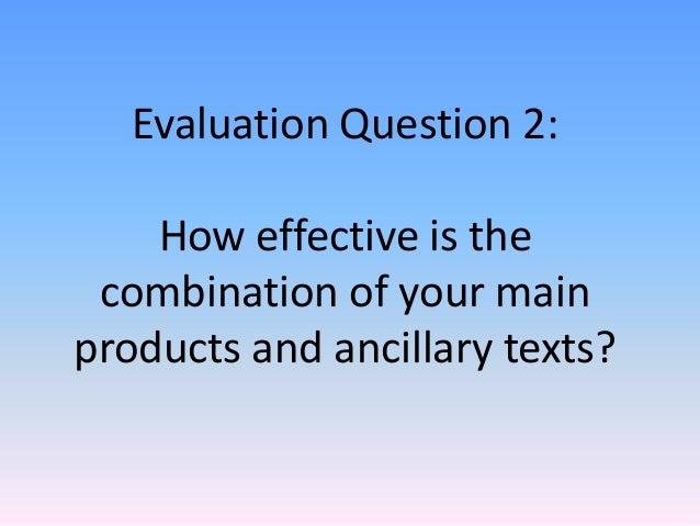 Evaluaion question 2