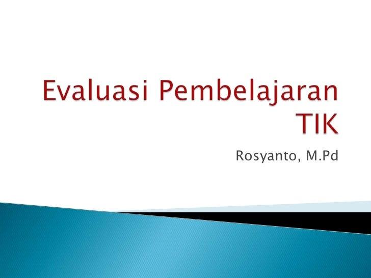 Rosyanto, M.Pd