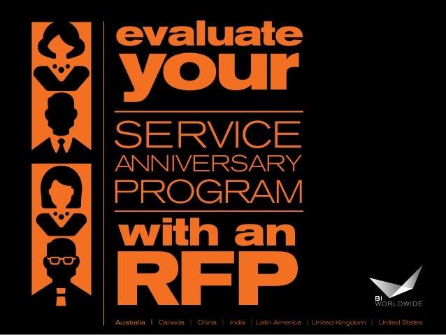 evaluate  your  SERVICE Anniversary  Program  with an  RFP  Australia   Canada   China   India   Latin America   United Ki...