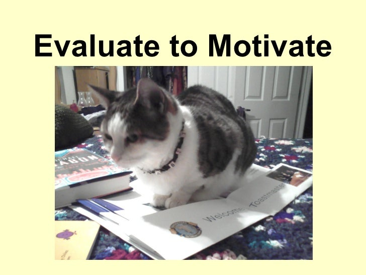 Evaluate to Motivate
