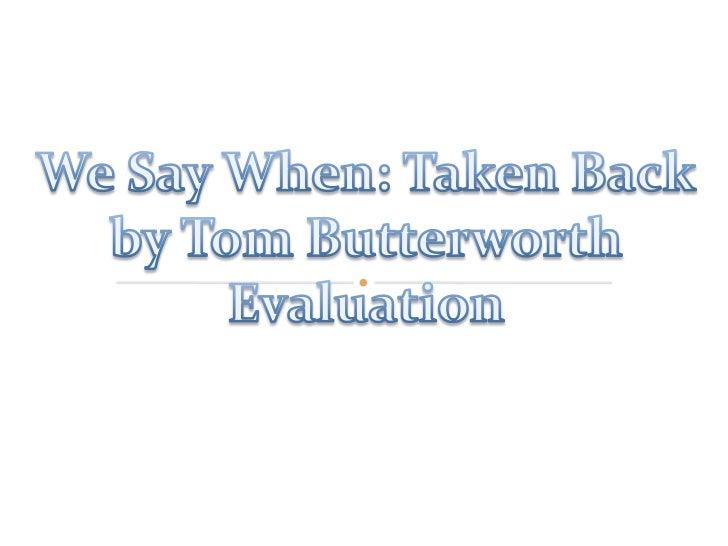 Evaluatiion part 1
