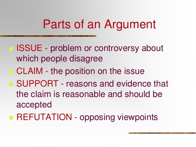 different parts of an argumentative essay
