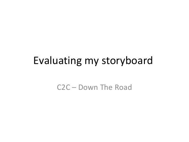 Evaluating my storyboard