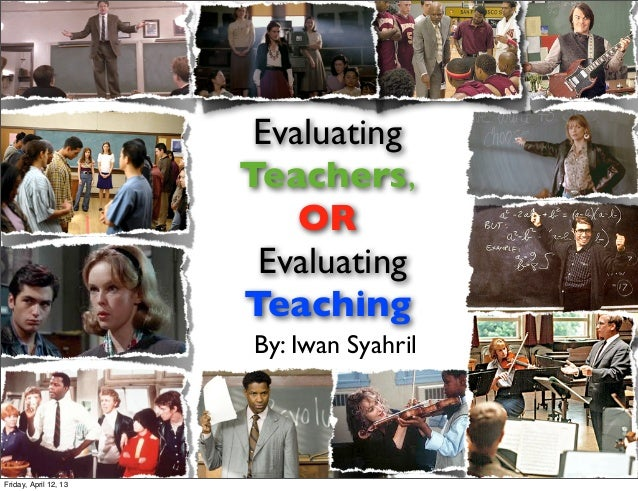 Evaluating                       Teachers,                           OR                        Evaluating                 ...