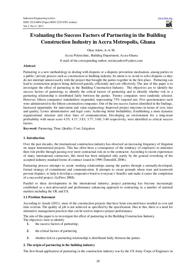 Industrial Engineering Letters ISSN 2224-6096 (Paper) ISSN 2225-0581 (online) Vol.3, No.11, 2013  www.iiste.org  Evaluatin...