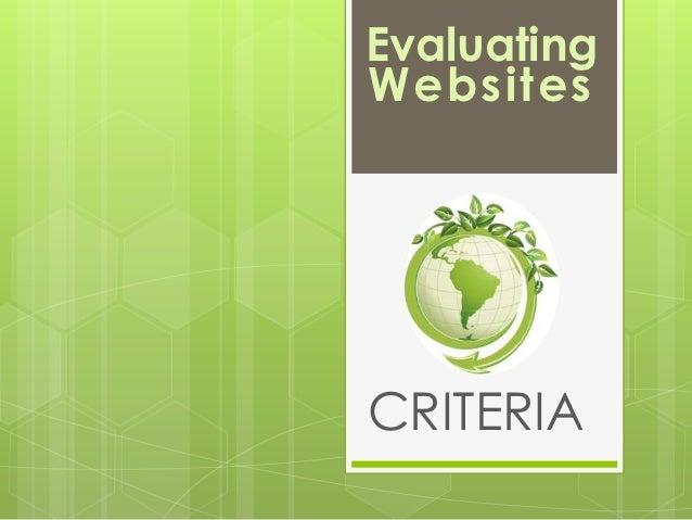 EvaluatingWebsitesCRITERIA
