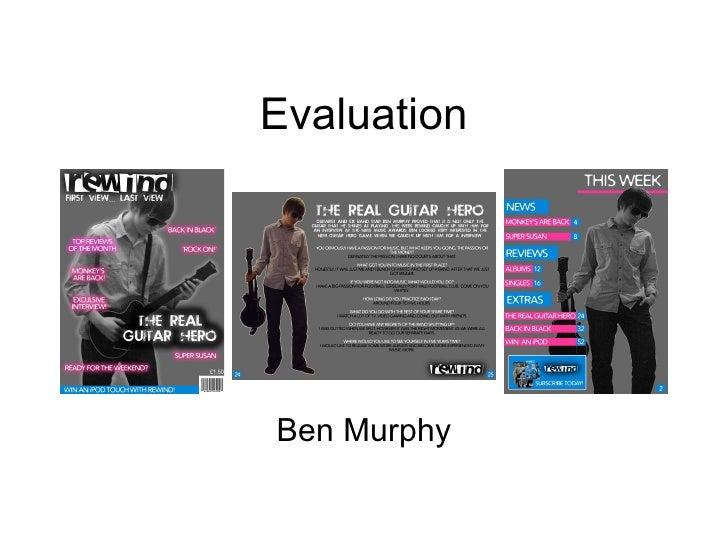 Evaluation Ben Murphy