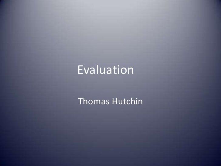 A2 Evaluation presentation