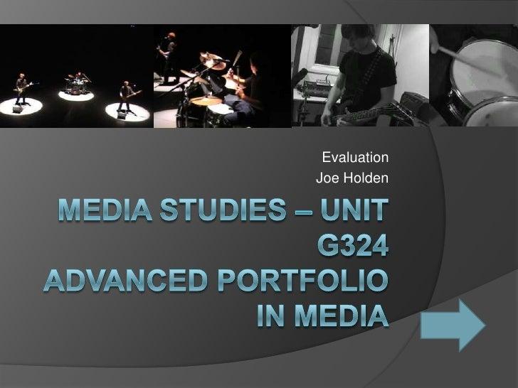JH Media Studies Evalutation