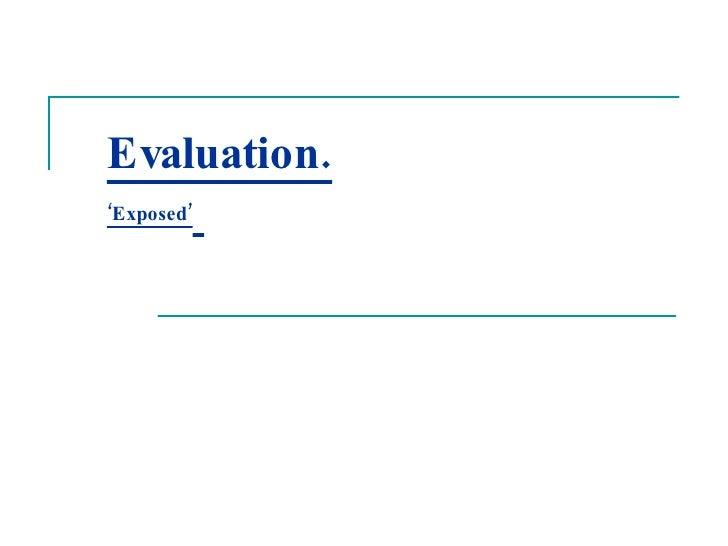 Media Evaluation.