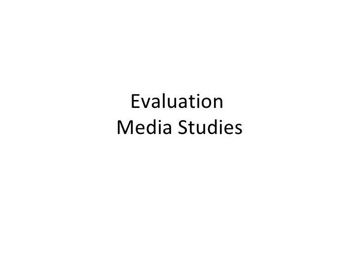 Evaluation(presentation)