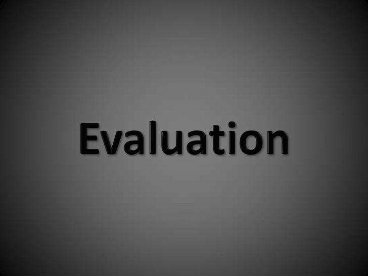 Evaluation<br />