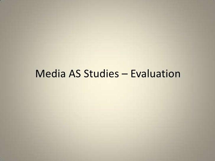 Media AS Studies – Evaluation