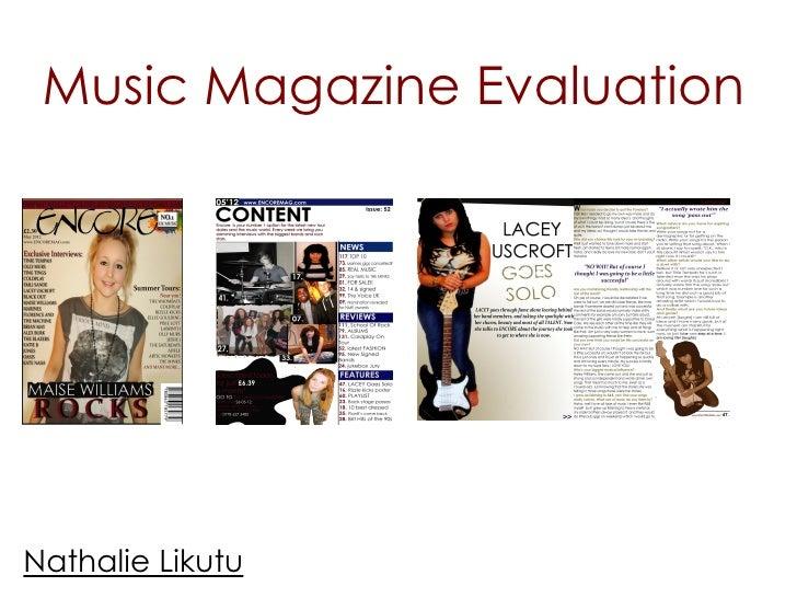 Music Magazine EvaluationNathalie Likutu