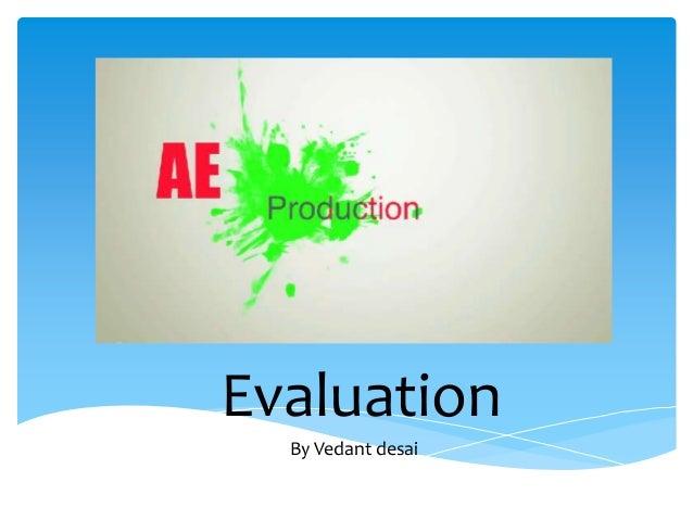 EvaluationBy Vedant desai