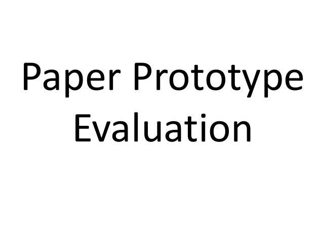 Paper Prototype Evaluation
