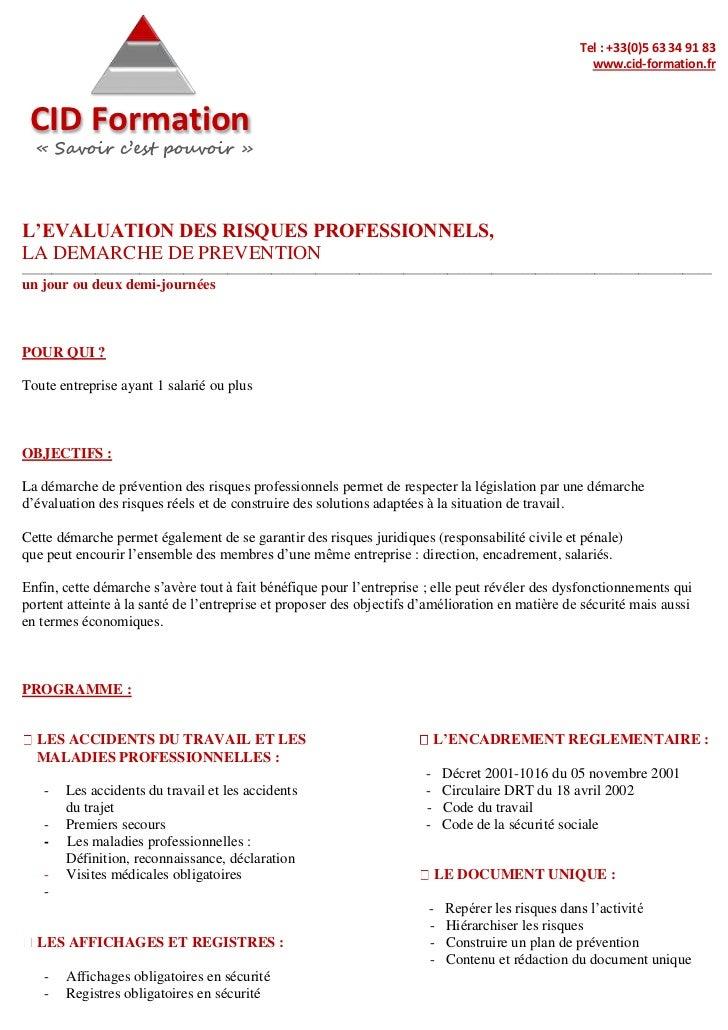 Evaluation des-risques-professionnels