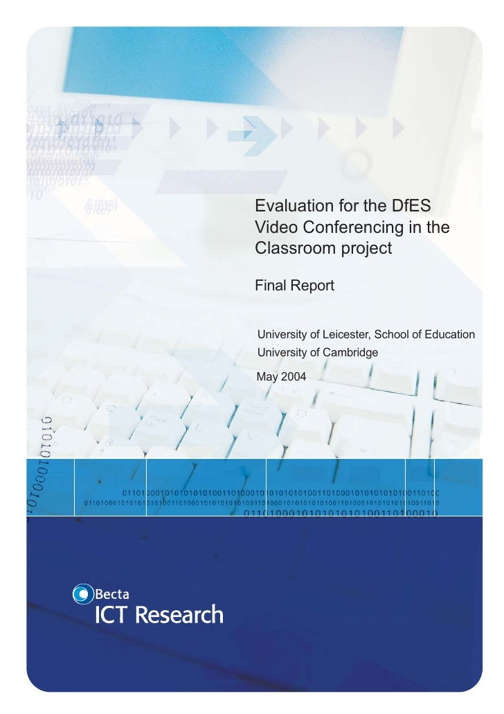 Evaluation for the DfES video conferencing in the classroom ...