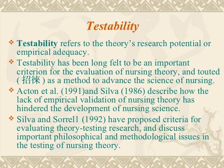 ways of evaluating a nursing theory