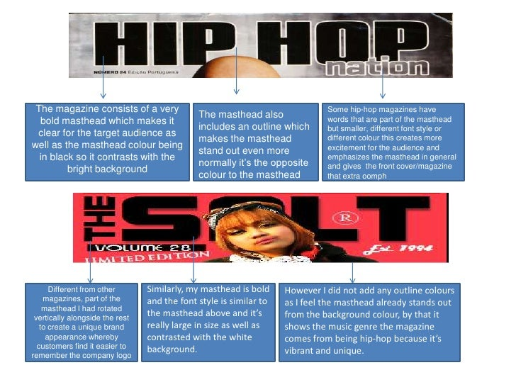 The magazine consists of a very                                              Some hip-hop magazines have                  ...