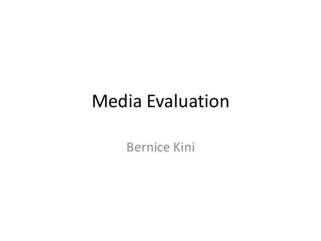Evaluation bernice