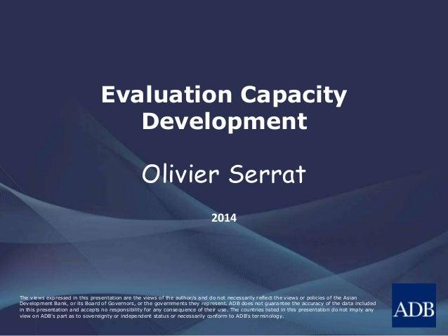 Evaluation Capacity Development