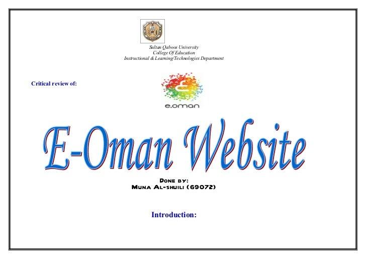 Sultan Qaboos University                                     College Of Education                      Instructional & Lea...