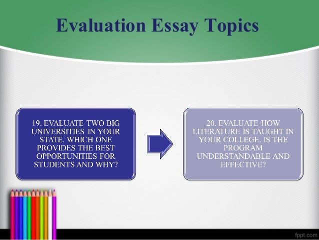 Critical Evaluation Essay Sample