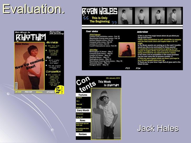 Evaluation. Jack Hales