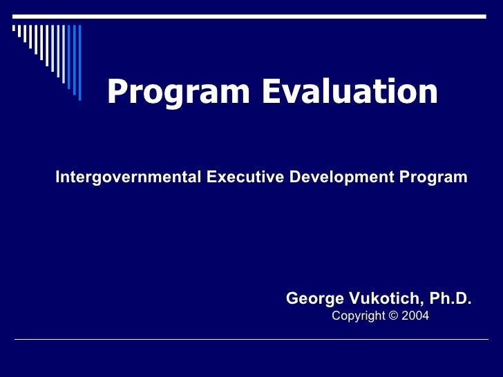 Program Evaluation Handouts