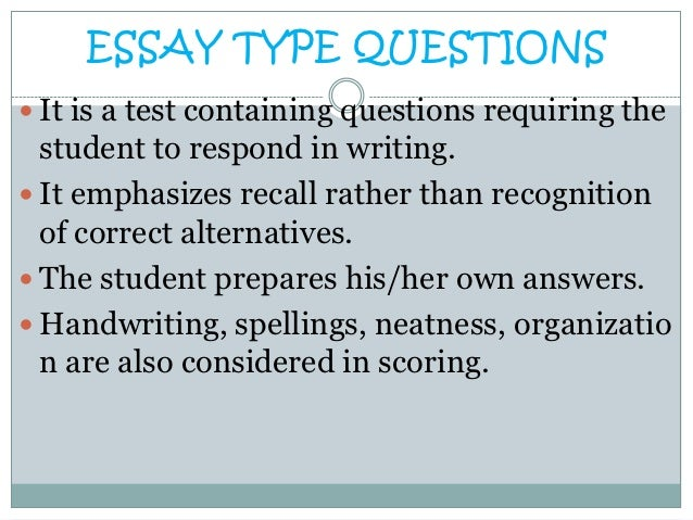 Writing restricted response essay in nursing education