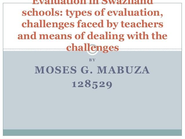 Evaluation in swaziland schools