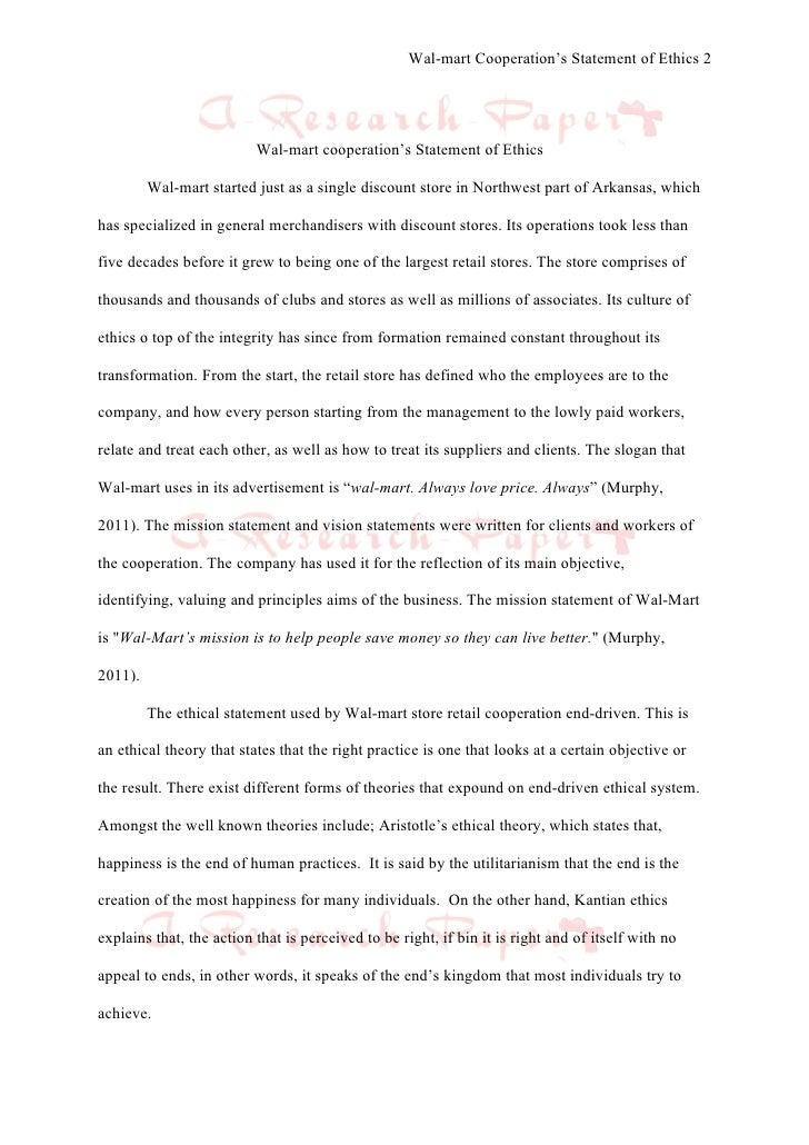 walmart thesis statement