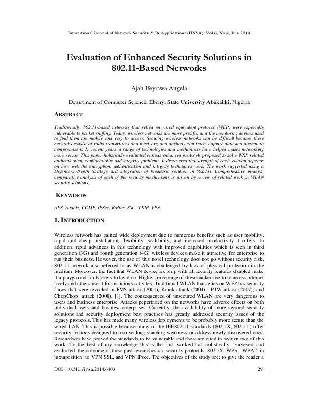 International Journal of Network Security & Its Applications (IJNSA), Vol.6, No.4, July 2014 DOI : 10.5121/ijnsa.2014.6403...
