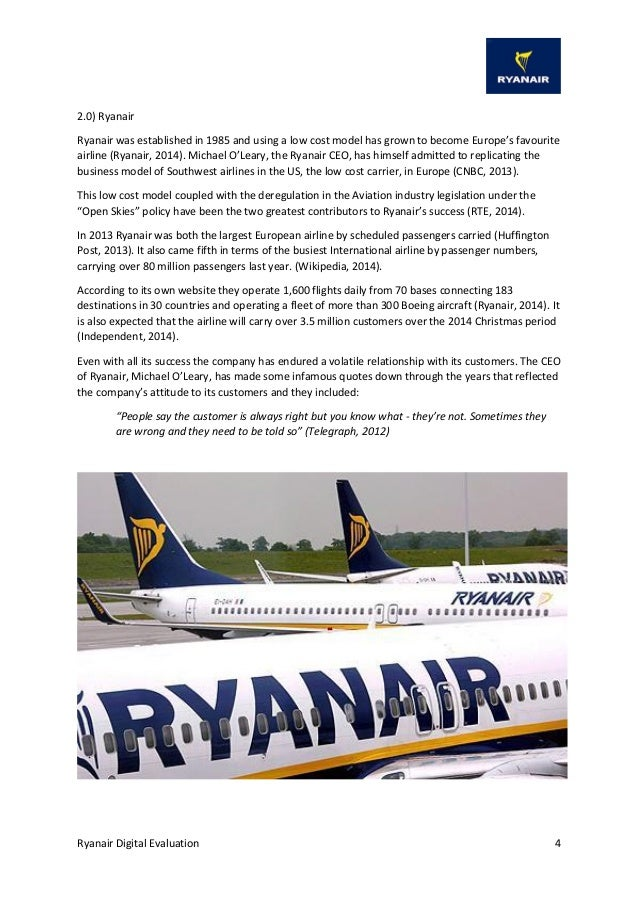 ryanair southwest of european airlines essay Ryanair has undoubtedly proved to be the success story of european air transport this essay will show how ryanair entered the market and ensured that its potential.