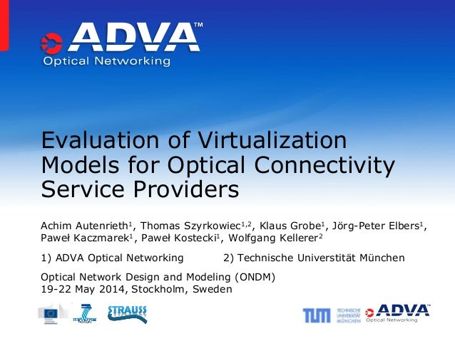 Evaluation of Virtualization Models for Optical Connectivity Service Providers