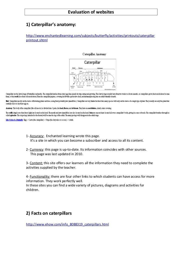 Evaluation of websites