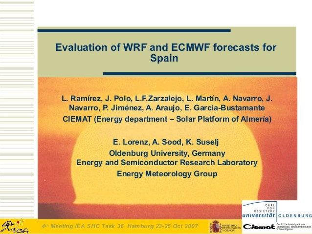 Evaluation of wrf and ecmwf forecasts for spain iea 4th ciemat v2