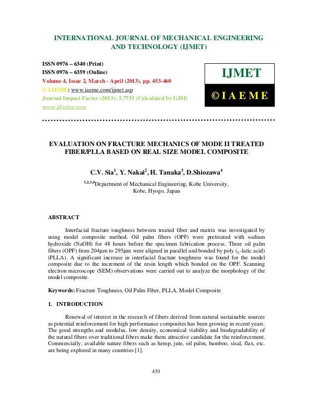 Evaluation on fracture mechanics of mode ii treated fiber pllabased