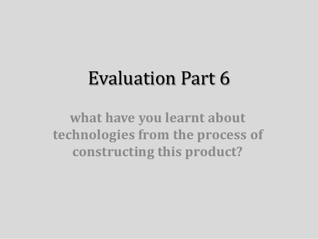 Evaluation part 6 powerpoint