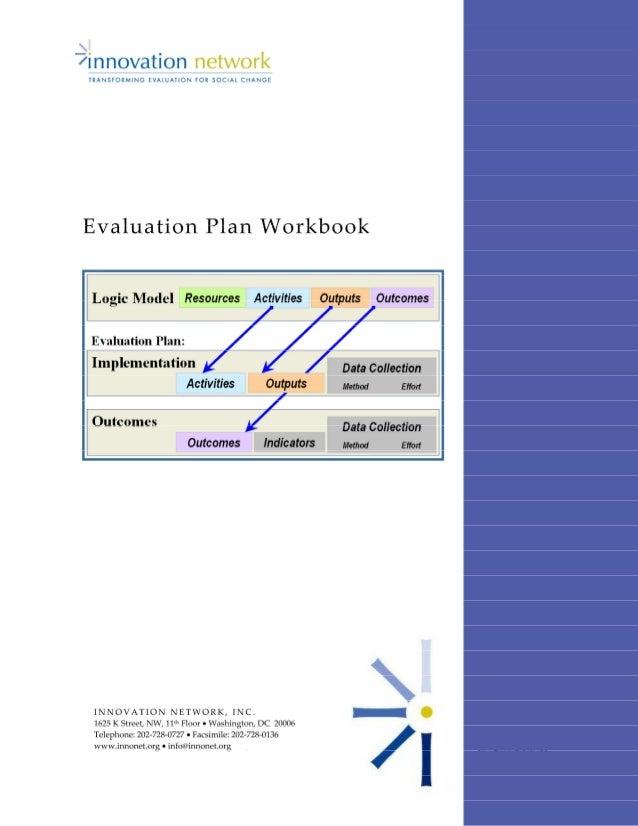 Evaluation Plan Workbook Page 0 of 23 Innovation Network, Inc. www.innonet.org • info@innonet.org