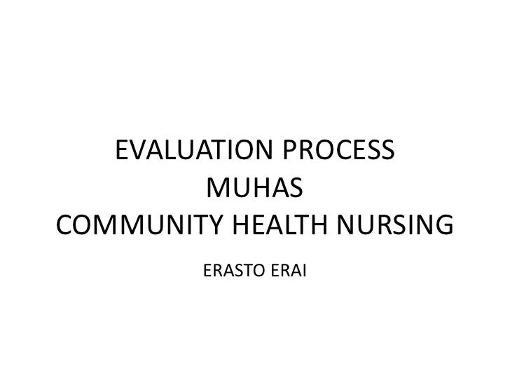 Evaluation process of community intervertion program erai
