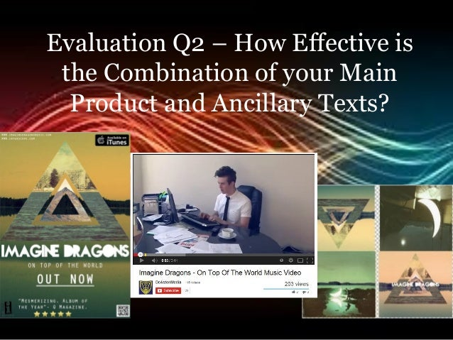 Evaluation Q2 – How Effective is the Combination of your Main Product and Ancillary Texts?