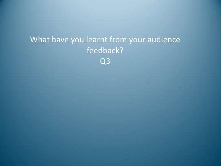 Evaluation Q3