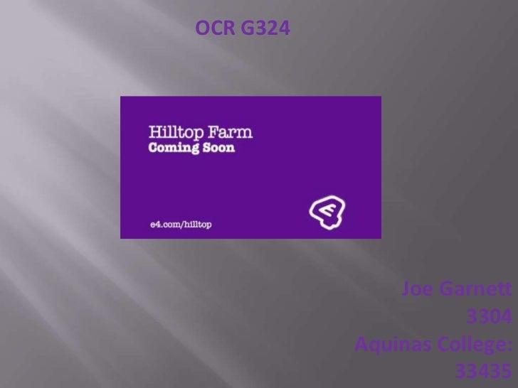 OCR G324               Joe Garnett                      3304           Aquinas College:                    33435