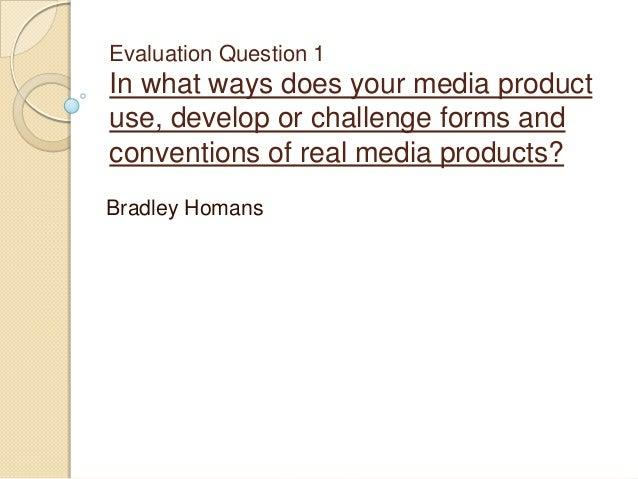 Evaluation question 1 presentation